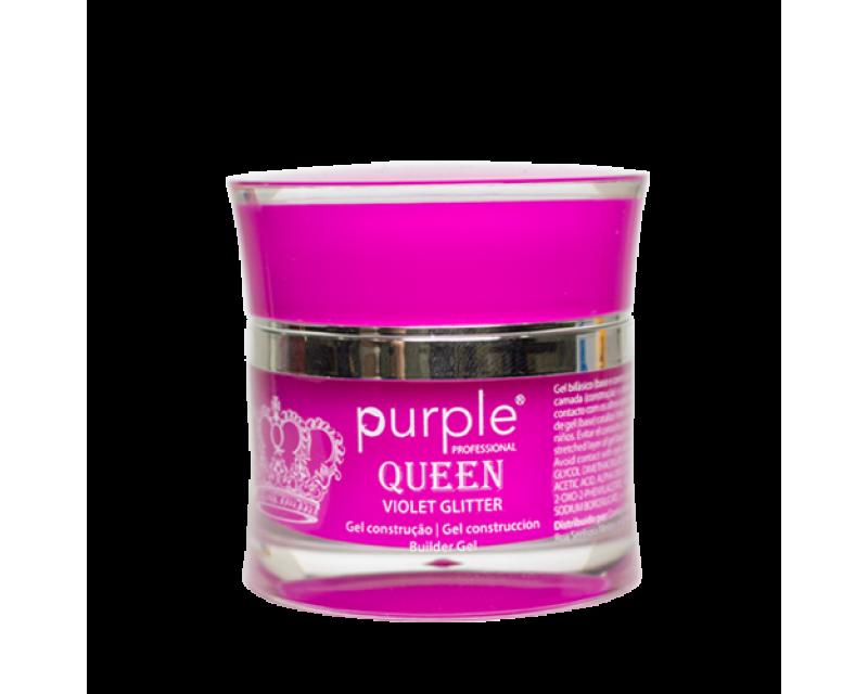 Gel Queen Violet Glitter, 15 gr