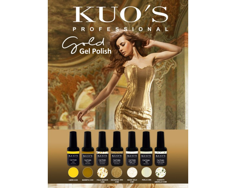 Gel-Polish Kuo`s - Colecção Gold