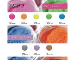 Pó Acrílico de Construção - Neon & Metalic Color 7g Kuo`s