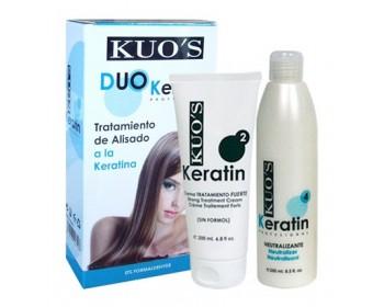Duo Alisamento Forte Queratina 2x200ml Kuo's
