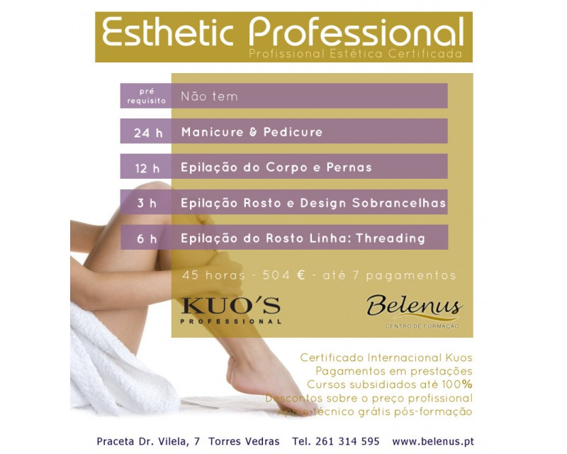 Curso: Certified Esthetic Professional