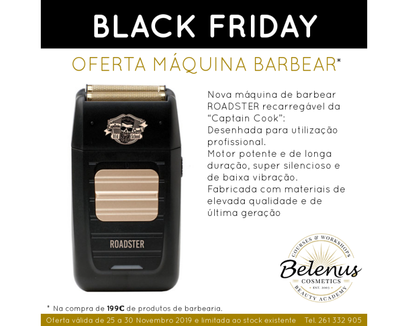 PROMO: Máquina de Barbear Roadster Captain Cook